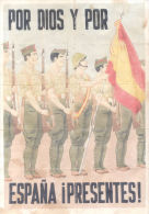 POR DIOS Y POR ESPAÑA ¡PRESENTES! - RICOTE MURCIA AÑO 1939 LAMINA COMPLETA DE CUPONES DE RACIONAMIENTO - Andere