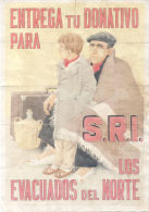 ENTREGA TU DONATIVO PARA S.R.I - EVACUADOS DEL NORTE - POTES CANTABRIA - LAMINA COMPLETA DE CUPONES DE RACIONAMIENTO - [ 3] 1936-1975 : Regency Of Franco