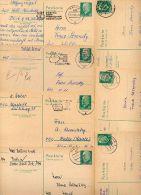 DDR  7 Postkarten P75 PLZ-Bereich 40-409  Kat. 8,75 € - Lettres