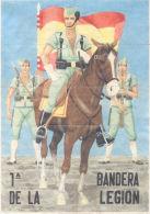 PRIMERA BANDERA DE LA LEGION - YESTE ALBACETE AÑO 1942 - LAMINA COMPLETA DE CUPONES DE RACIONAMIENTO - Andere