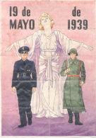 19 DE MAYO DE 1939 - LAMINA COMPLETA DE CUPONES DE RACIONAMIENTO VALLADOLID - [ 3] 1936-1975 : Regency Of Franco