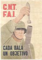 C.N.T. FAI - CADA BALA UN OBJETIVO - VILLARALBO ZAMORA AÑO 1937 - LAMINA COMPLETA DE CUPONES DE RACIONAMIENTO - [ 3] 1936-1975: Franco