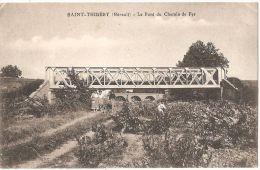 Dépt 34 - SAINT-THIBÉRY - Le Pont Du Chemin De Fer - France