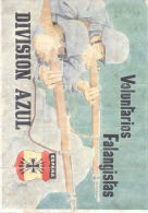 VOLUNTARIOS FALANGISTAS DIVISION AZUL AÑO 1941 CELANOVA ORENSE LAMINA COMPLETA DE CUPONES DE RACIONAMIENTO - [ 3] 1936-1975 : Régence De Franco