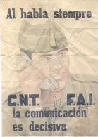AL HABLA SIEMPRE - C.N.T. F.A.I. - LA COMUNICACION ES DECISIVA VILLAJOYOSA ALICANTE LAMINA COMPLETA DE CUPONES DE RACION - [ 3] 1936-1975 : Regency Of Franco