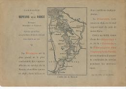 Ancienne Publicité : COMPAGNIE DES VAPEURS DE LA RANCE, Saint-Malo, Dinard, Dinan Avec Carte De La Rance - Publicités