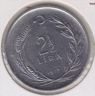 @Y@  Turkije   2 1/2   Lira    1977    (item 2416) - Turquie