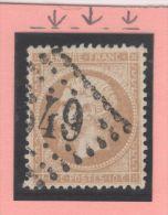Napoléon III N° 21 (Variété, Filet Du Haut Absent) Avec Oblitération Losange 549  TTB - 1862 Napoleon III