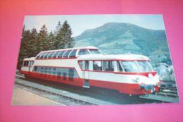 AUTORAIL PANORAMIQUE825 CHEVAUX  EN GARE DE BOURBOULE - Bahnhöfe Mit Zügen