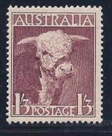 Australia, Scott # 211 Mint Hinged Hereford Bull, 1948 - 1937-52 George VI