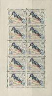 CZ1436 Czechoslovakia 1959 Birds Great Spotted Woodpecker Sheet 10v MNH - Tchécoslovaquie