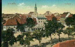 Litho Grossenhain Lindenplatz Cigarrenhaus Richard 1.8.1914 Nach Hintergersdorf - Grossenhain