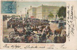 CPA PEROU PERU LIMA El Palacio de la Exposicion y el Corso en el Malecon Tinted Ed Polack Timbre Stamp 1905