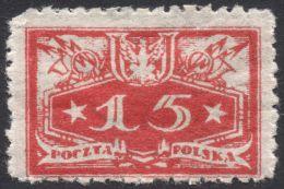 Poland, 15 F. 1920, Sc # O14, Mi # 14, MH - Officials