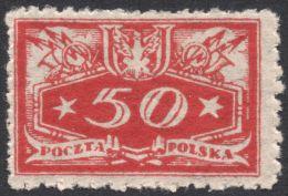 Poland, 50 F. 1920, Sc # O16, Mi # 16, MH - Officials