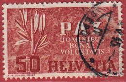 Zumst. N° 267, Mi 452 / De La Série Pax : 50 C. Propre, Bien Dentelé. Cote 45.- CHF - Usati