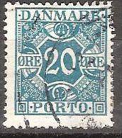 DENMARK #  PORTO  STAMPS FROM YEAR 1921 - Portomarken