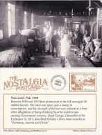 Postcard Newcastle Pub 1910 Public House Bar Drinker Beer Barrel Nostalgia Repro - Inns