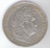 FRANCIA 5 FRANCS 1831 LOUIS PHILIPPE I ZECCA B AG SILVER - Francia