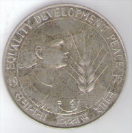 INDIA 50 RUPEES 1975 EQUALITY DEVELOPMENT PEACE AG SILVER - India