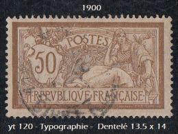 1900 - Europe - France - Type ' Merson ' - 50 C. Brun Et Gris - 1900-27 Merson