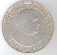 SLOVACCHIA 50 KORUN 1944 AG SILVER - Slovacchia