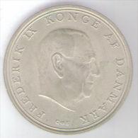 DANIMARCA 10 KRONER 1968 AG SILVER - Danimarca