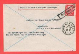 Ueckingen Els. Uckange 1940 Moselle - Marcophilie (Lettres)