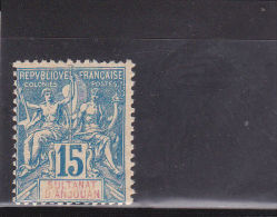 ANJOUAN - YVERT N° 6 * - COTE = 18 EUROS - - Unused Stamps