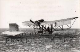 AVIATION PHOTO.14X9 CMS. AEROBUS  BLERIOT XIII PILOTE PAR LEMARTIN .IL A VOLE AVEC 10 PASSAGERS  . SAFARA .TEXTE AU DOS - ....-1914: Précurseurs
