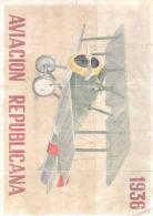 AVIACION REPUBLICANA 1936 - BACELLA LERIDA - LAMINA COMPLETA DE CUPONES DE RACIONAMIENTO - Andere