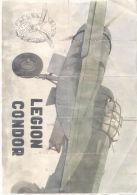 LEGION CONDOR - MIGUELTURRA CIUDAD REAL AÑO 1940 - LAMINA COMPLETA DE CUPONES DE RACIONAMIENTO - [ 3] 1936-1975 : Regency Of Franco