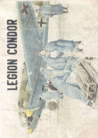 LEGION CONDOR - AÑO 1942 - CUENCA - LAMINA COMPLETA DE CUPONES DE RACIONAMIENTO - [ 3] 1936-1975 : Regency Of Franco