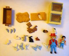 PLAYMOBIL  CLAPIERS A LAPIN PLUS ANIMAUX DE LA FERME ET FERMIER  2005 - Playmobil