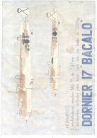 DORNIER 17 BACALO - ARMAMENTO 3 AMETRALLADORES MOVILES MG-15 DE 7,92 MM - 3 LANSABOMBAS VERTICALES PARA LLEVAR CADA UNO - [ 3] 1936-1975 : Regency Of Franco