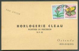 C.P. Affranchie à  3Fr50. Obl; Sc JADOTVILLE 29-4-1960 Vers Ostende.  9517 - 1947-60: Lettres