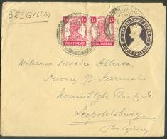 E.P. Enveloppe 1½ + Complément De 1A(x2) Onl. Dc KOTAGIPI 24 Mars 1949 Vers Leopoldsburg. - 9523 - 1947-49 Dominion