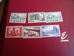Timbres      ALLEMAGNE   SAARS  Année 1952 MICH  N°322-325-326-327-330-332* - Neufs