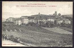 CPA ANCIENNE- FRANCE- SERRALONGUE (66)- VUE GENERALE DU VILLAGE EN GROS PLAN- BELLE ANIMATION- GERBES- CULTURES - France