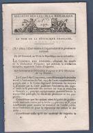 BULLETIN DES LOIS DU 28 GERMINAL AN VI - ORGANISATION DE LA GENDARMERIE NATIONALE - 60 PAGES - Décrets & Lois