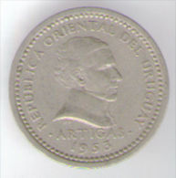 URUGUAY 2 CENTESIMOS 1953 - Uruguay
