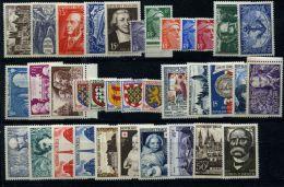 Année Complète 1951 Timbres Neufs** Tous Sans Charnière Sauf Grands Hommes - 1940-1949