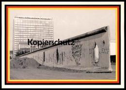 ÄLTERE POSTKARTE BERLIN BERLINER MAUER MIT AXEL SPRINGER VERLAG CHUTE DU MUR WALL Illinois State University Cpa Postcard - Berliner Mauer