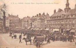 ¤¤   -  23   -  LILLE   -   Grande Place   -  Exposition Annuelle Des Fleurs  -  Attelage De Chevaux   -  ¤¤ - Lille