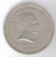 URUGUAY 10 CENTESIMOS 1953 - Uruguay