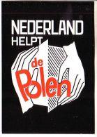 GOOD NETHERLANDS POSTCARD 1982 - Nederland Helpt De Polen - Health
