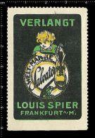 Old Original German Poster Stamp(advertising Cinderella, Reklamemarke)Shoes,Boots, Schuhe,Stiefel, Frog,grenouille,Fr... - Frogs