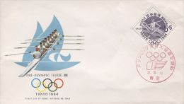 FDC Tokio 1964, Japan (Pre-olympic Issue 1962) - Rowing - Summer 1964: Tokyo