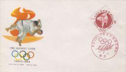 FDC Tokio 1964, Japan (Pre-olympic Issue 1962) - Judo - Summer 1964: Tokyo