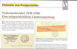Chech. Republik, Rückblick Auf DieJahre 1938-48 Olsagebiet, Sudetenland, Karpaten, Ukraine Etc. - Filatelia E Historia De Correos